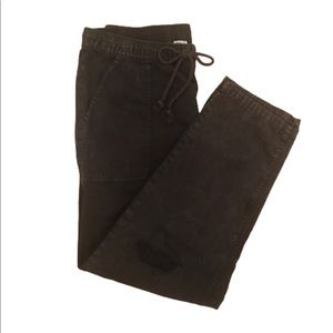Aerie Baggy Ripped Smoked Grey Joggers